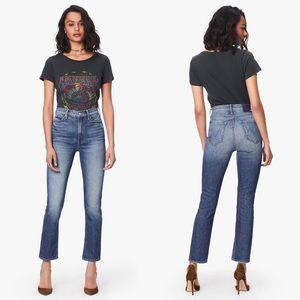 MOTHER DENIM The Dazzler Ankle Straight Leg Jeans